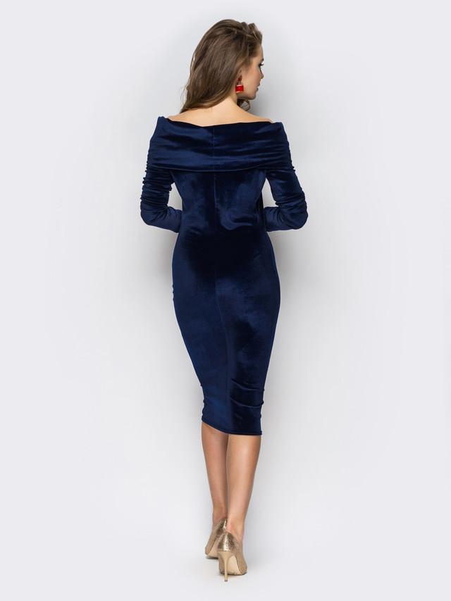 4e7c0b630144d6b Красивое платье с открытыми плечами, материал – велюр. Длина изделия по  спинке - 97 см, длина рукава от плечевого шва – 62 см.