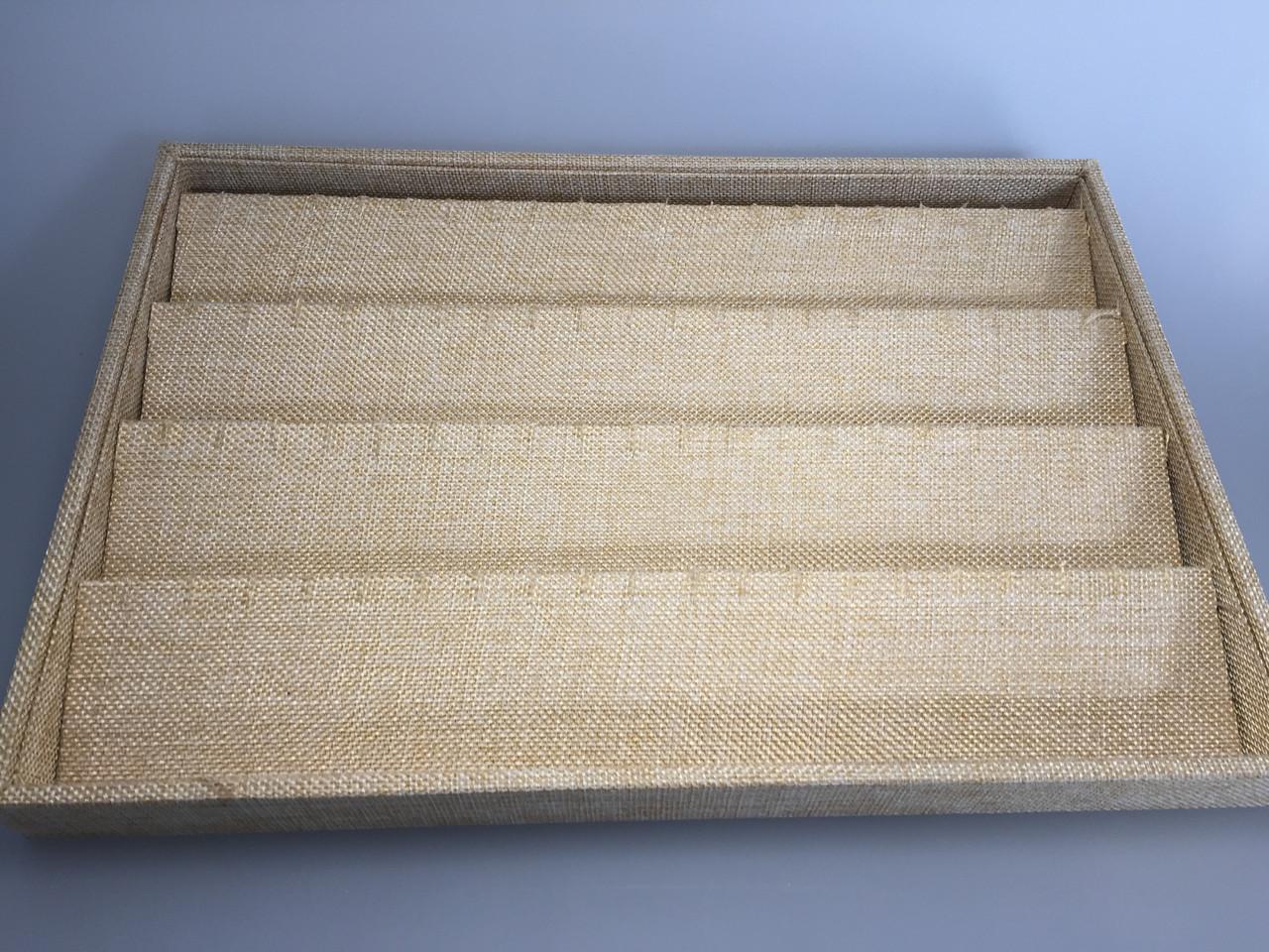 """Планшет ювелирный """"Под серьги и кулоны плетёнка 35 х 24 х 3,5 см"""""""
