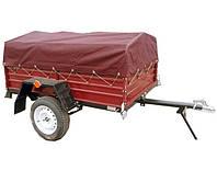 ✅Тент на легковой прицеп 170 х 130 см РЮКЗАК (красный)
