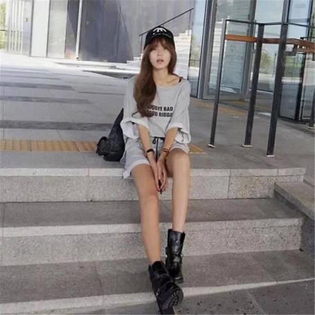 Женский костюм футболка и шорты, фото 2