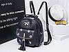Городской рюкзак с вышивкой черный, фото 2