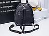 Городской рюкзак с вышивкой черный, фото 3