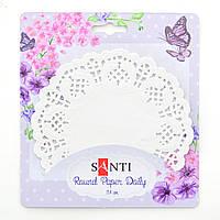 Набор салфеток ажурных круглых, цвет белый, диаметр 11,4  см, 12 шт.