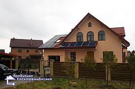 Гібридна сонячна електростанція 4 кВт с. Ременів 1
