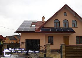 Гібридна сонячна електростанція 4 кВт с. Ременів