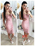 Женское стильное платье-лапша со шнуровкой (6 цветов), фото 7