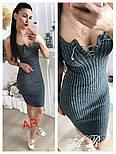 Женское стильное платье-лапша со шнуровкой (6 цветов), фото 9