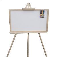 Большой мольберт из ольхи для рисования мелом и водными маркерами