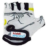 Детские спортивные перчатки Kiddi Moto Fossil 4-7 года (размер М, серые) ТМ Kiddi Moto CLO-35-29