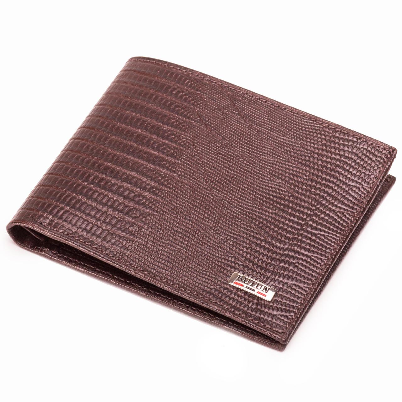 Мужской кошелек кожаный коричневый BUTUN 134-015-004