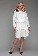 Платье-рубашка Троя - белый: 52-54, 56-58