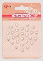Набор жемчужин самоклеющихся сердечки перламутровые, 27 шт