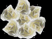 Головки розочек из фоамирана 3,5 см айвори с фатином