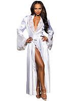 Белый длинный халат с рукавом, фото 1