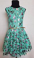 Платье для девочки Тая р.128-146 мята