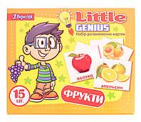 Набор детских карточек Фрукты, 15 шт в наборе (укр)