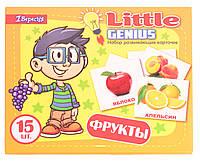 Набор детских карточек Фрукты, 15 шт в наборе (рус)