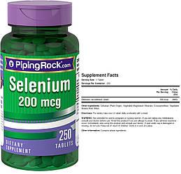 Puritan's Pride, Селен, 200 мкг, 250 таблеток