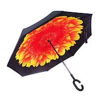 Зонт обратного сложения Vip-brella Георгин огненный (G93)