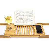 Столик для ванны Bellasentials, бамбуковый, фото 1