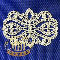 Хрустальный декор, цвет Crystal, размер 11х8см, 1 шт