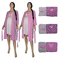 Ночная рубашка и халат для беременных и кормящих 02110 Амарилис, р.р. 42-56