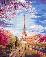 """Картина по номерам """"Весеннее небо Парижа"""" [40 х 50 см, С Коробкой]"""