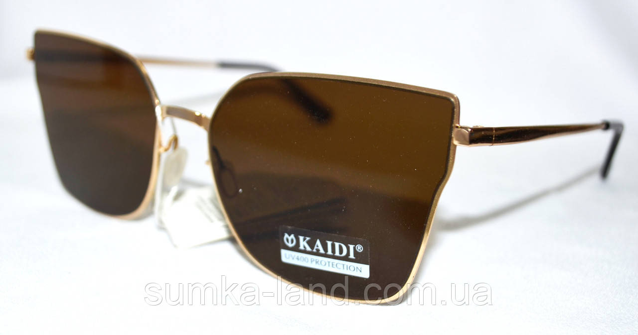 Женские солнцезащитные коричневые очки Kaidi