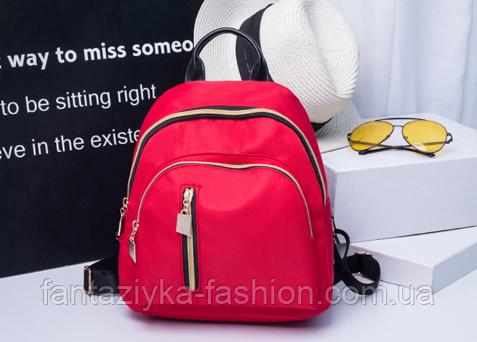 Маленький красный рюкзак из нейлона