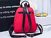 Маленький красный рюкзак из нейлона, фото 3
