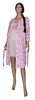 Ночная рубашка и халат для беременных и кормящих 02110-1 Amarilis Silver, р.р. 42-56