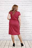 Женское платье с люриксом малинового цвета 0781 / размер 42-74 , фото 4
