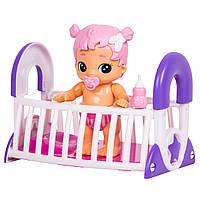 Интерактивная кукла Bizzy Bubs Грейси с кроваткой