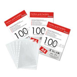 Файли A4 20 мкм глянцеві, 100 штук; Leader 202100