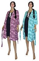 Теплый халат и ночная рубашка 02108 Kolibri для беременных и кормящих, р.р. 42-56