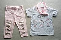 Детский летний костюм для девочек 6-18 месяцев