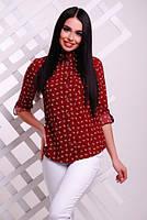 Блуза 8-1718 - бордовый: 42,44,46,48,50