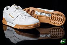 Кроссовки мужские Reebok белые топ реплика, фото 3