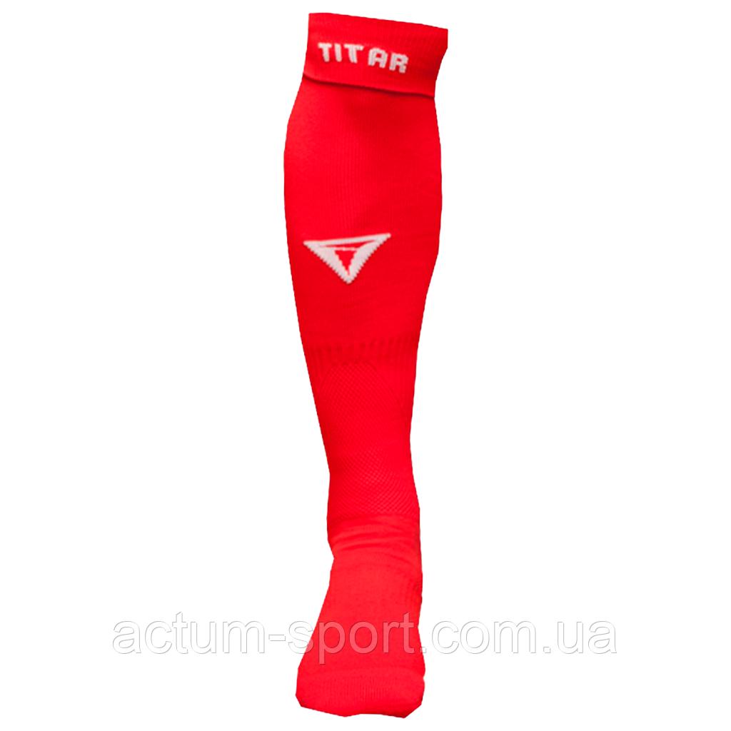 Гетры футбольные красные Titar