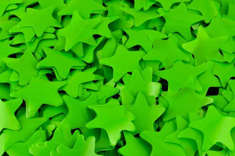 Конфетти звёздочки зелёные. Вес:250гр.