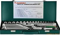 """Набор торцевых головок 3/8""""DR 6-22 мм и комбинированных ключей 7-17 мм, 36 предметов S04H3536S Jonnesway"""