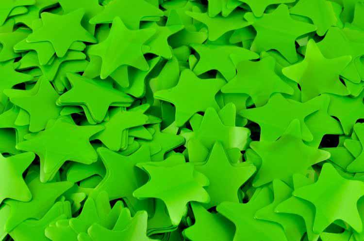 Конфетти звёздочки зелёные. Вес:500гр.