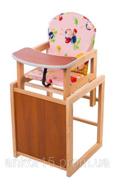 Деревянный детский стульчик трансформер «Божьи коровки»