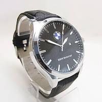 Мужские наручные часы BMW (БМВ), стальной корпус с чёрным циферблатом