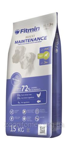 Fitmin dog maxi maintenance Фитмин Макси Корм для собак крупных пород со средней активностью, 15 кг