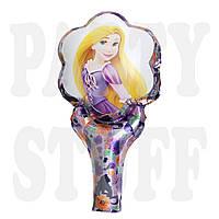 Шар фольгированный с ручкой Принцесса, 50 см
