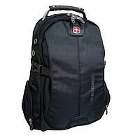 Рюкзак Swissgear с отделением для ноутбука большой GS1021 черный, фото 1