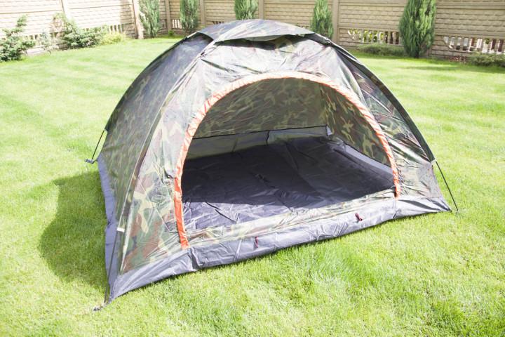Палатка туристическа двухместная SY-002 (р-р 2х1,5х1,1м, PL, хаки)