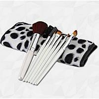 Кисти для макияжа в чехле ( цвета далматинца ) , 7 штук , фото 1