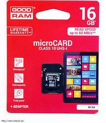 Картка пам'ятi GOODRAM microSDHC 16GB Class 10